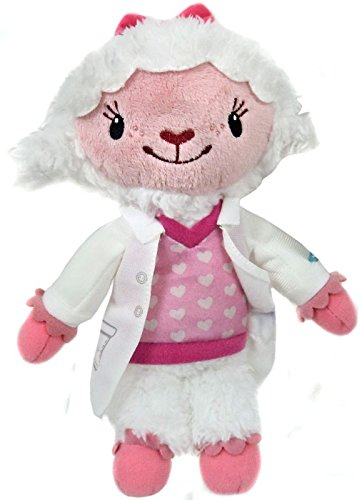 Disney Doc McStuffins Toy Hospital Lambie Plush Bean with Lab Coat 9-inch -