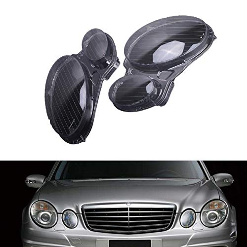 Facaimo Pair Headlight Clear Lens Lightshade Cover for Benz E Class E500 E320 E350 E550