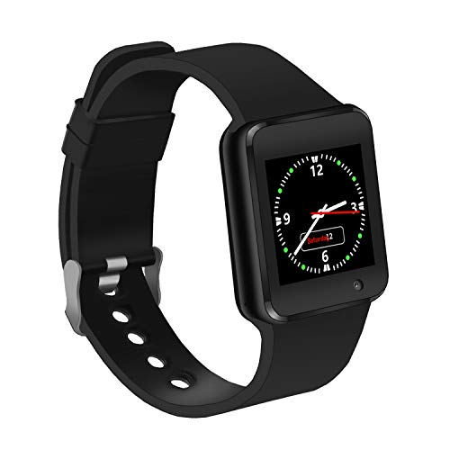 LAHYXAL Smart Watch Touchscreen Bluetooth Smartwatch Fitness Tracker Sport Watch with Camera SIM SD Card Slot Pedometer Compatible iPhone iOS Samsung Android Phones for Women Men Kids (Black) (Best Bluetooth Smartwatch For Android)