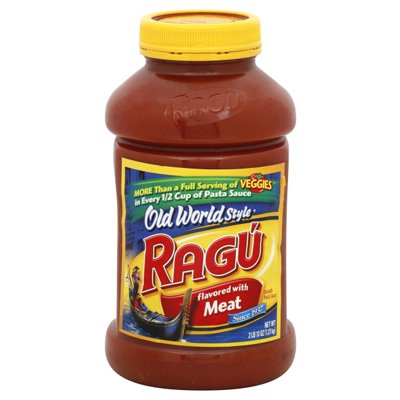 RAGU PASTA SPAGHETTI TOMATO SAUCE OLD WORLD TRADITIONAL STYLE FLAVORED WITH MEAT 45 OZ JAR