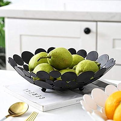 Metal Hueco Plato de Fruta Mesa Redonda Grande Decorativa Soporte ...
