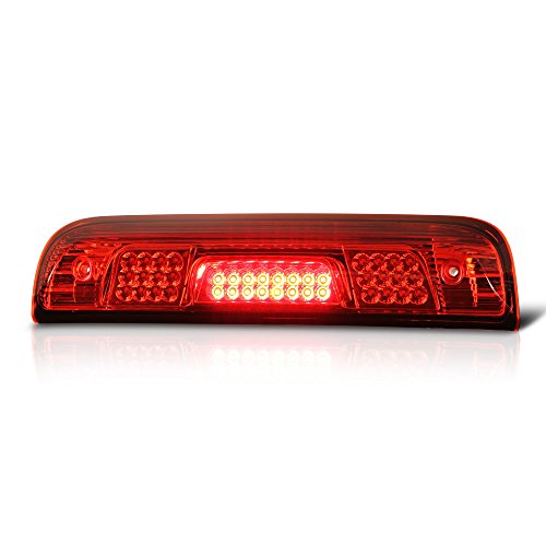 Replacement Middle Chassis (VIPMotoZ 2014-2018 Chevrolet Silverado GMC Sierra 1500 2500HD 3500HD Full LED Third Brake Light - Rosso Red Housing, Rear High Mount Stop Lamp)