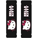 Hello Kitty Sanrio Face Head w/ Red Bow & Script Car Truck SUV Seat Belt Shoulder Pads - PAIR