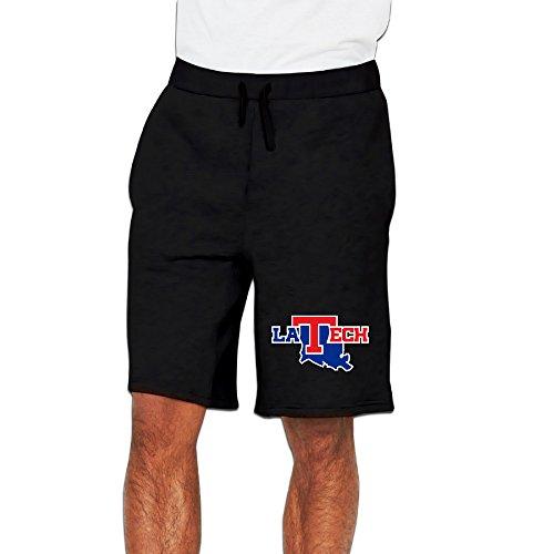 (CGH Seven Louisiana Tech University Bulldogs Men's Shorts With Pocket SizeXXL Black )