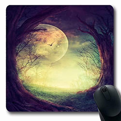 Pandarllin Mousepads Space Halloween Design Festive Gothic Autumn