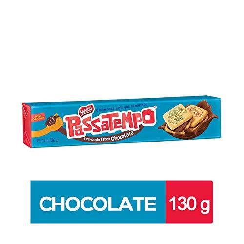 Nestlé - Passatempo - Sandwich Cookies Chocolate - 4.59 Oz (PACK OF 04) | Biscoito/Bolacha Recheado Recheado Sabor Chocolate - 130g (Brazilian Cookies)