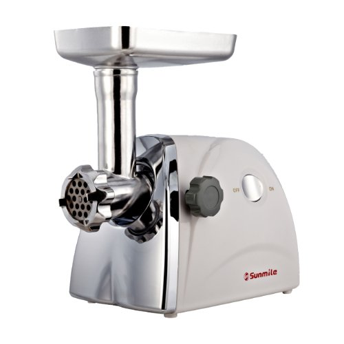 Sunmile SM-G31 ETL Electric Meat Grinder Mincer 1HP 800W Max Stainless Steel Cutting Blade, 3 Stainless Steel Grinding Plates,3 Sausage...