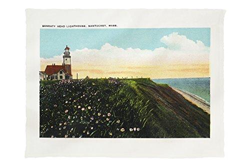 Nantucket, Massachusetts - View of Sankaty Head Lighthouse (60x80 Poly Fleece Thick Plush Blanket)