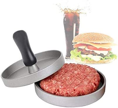 Hamburger Press Aluminum Burger Press Perfect Hamburger Mold Ideal for BBQ with 40 Free Patty Papers Heavy Duty Non-Stick Hamburger Patty Maker