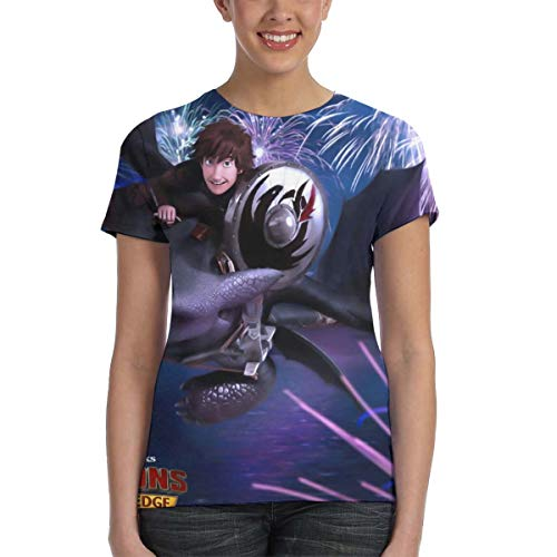 Halloween Screams Fireworks (Cool Style Digital Printed Graphic Custom Short Sleeve Top Costume for Teen Womens, How to Do The Dragon Fireworks T Shirts Tees for Sports)