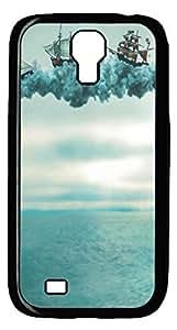 Brian114 Samsung Galaxy S4 Case, S4 Case - Black Hard PC Cases for Samsung Galaxy S4 I9500 Fantasy Ships Ultra Fit for Samsung Galaxy S4 I9500