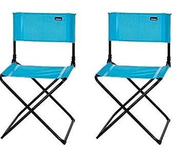 2 X Chaise Pliante Trigano Air Bleu Amazon Fr Sports Et Loisirs