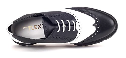 The Donna Lunatic E Flexx Francesina Scarpa Nero Bianco RS8PrR