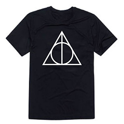 THE Deathly Hallows T-shirt-01 Voldemort Harry Potter Unisex Top (XL, BLACK)