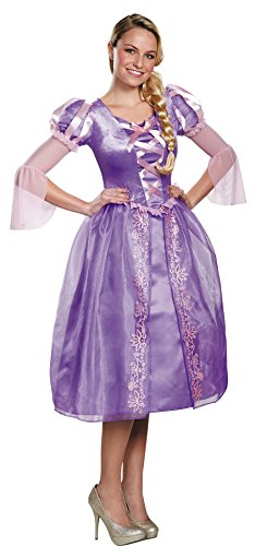 [UHC Disney Princess Tangled Rapunzel Outfit Womens Fancy Dress Halloween Costume, L (12-14)] (Cheap Adult Disney Princess Costumes)