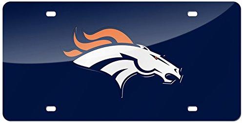 (NFL Denver Broncos Laser Inlaid Metal License Plate Tag)
