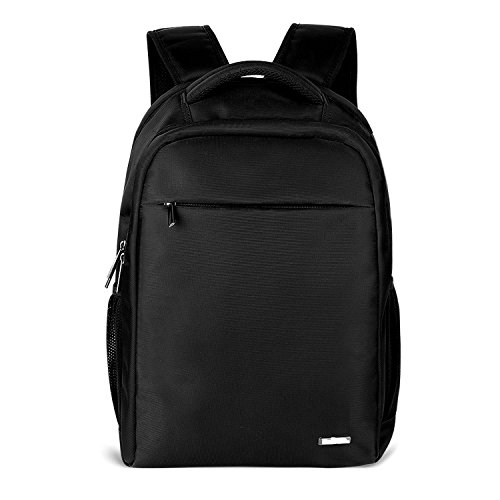 Prasacco Business Laptop Backpack, 15.6 inch Waterproof Computer Bag Travel Anti Thief College School Backpacks for Women and Men - Black