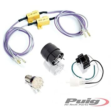 PUIG - 1625T/72 : Bombilla leds intermitentes moto no homologada color Naranja: Amazon.es: Coche y moto