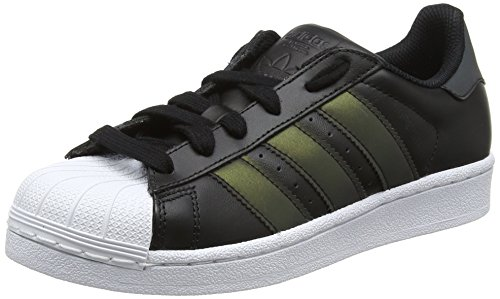 adidas Superstar C, Zapatillas de Deporte Unisex Niños Negro (Negbas/Negbas/Ftwbla 000)