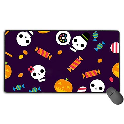 Halloween Wallpaper Holiday Extended Gaming Mouse Pad Computer