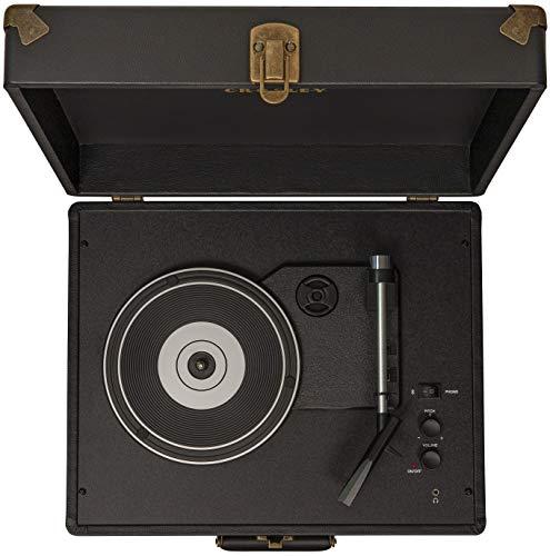 Crosley CR6253A-BK Anthology Vintage 3-Speed Bluetooth Suitcase Turntable, Black