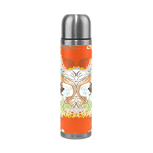 imobaby Jennifer Unique Japanese Print Leak Proof Water Bottle Insulated Vacuum Stainless Steel Thermos by imobaby