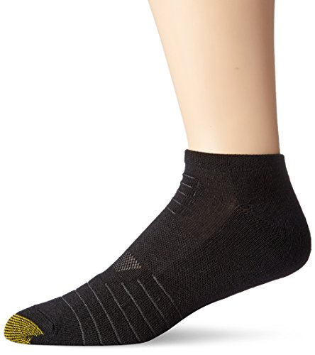 Gold Toe Men's Tech No Show Socks (6 Pair Pack), black, Shoe Size: 6-12.5 ()