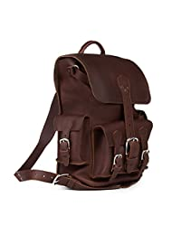 Saddleback Leather Thin Front Pocket Backpack - Best, 100% Full Grain Leather Backpack for School, Business or Travel.