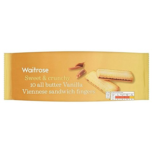 All Butter Viennese Biscuits Waitrose 150g (Pack of 6)