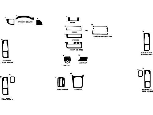 - Rdash Dash Kit Decal Trim for Saturn 1995-1997 - Matte (Silver)