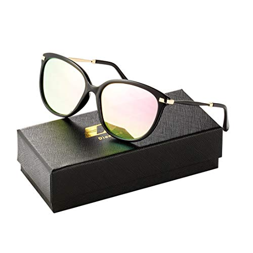 Diamond Candy Classic Round Polarized Sunglasses Vintage Mirrored Glasses For ()