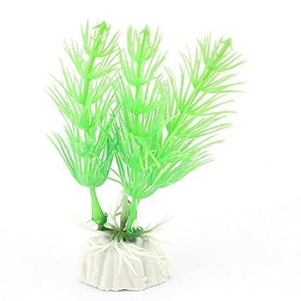 eDealMax Planta acuario plástico del tanque de pescados de hierba Artificial Decoración DE 9 cm Alto