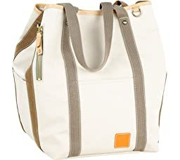 Carina Two Face Tote Bag Color: Stone