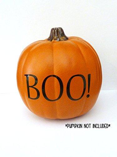 Boo! Pumpkin Decal, Pumpkin Decor, Halloween Pumpkin Decorations, Boo Vinyl Decal, Harvest Decoration, Fall Pumpkin Decoration, Boo! Sticker **VINYL ONLY** ()