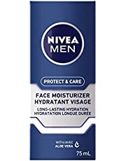 NIVEA MEN Protect & Care Face Lotion (75 ml), Aloe Vera Enriched Face Moisturizer To Prevent Skin from Drying Out, Dermatologist Tested Mens Face Moisturizer