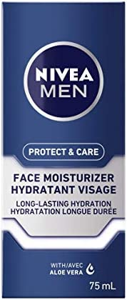 NIVEA MEN Protect & Care Face Lotion (75 ml), Aloe Vera Enriched Face Moisturizer To Prevent Skin from Dry