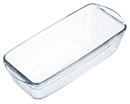 Arcuisine Borosilicate Glass Loaf Pan 11 x 4.75 Inches (28 Centimeter)