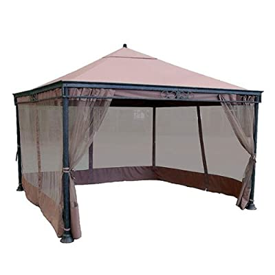 Garden Winds JRA 12 x 12 Gazebo Replacement Canopy Top Cover and Netting - RipLock 350: Garden & Outdoor