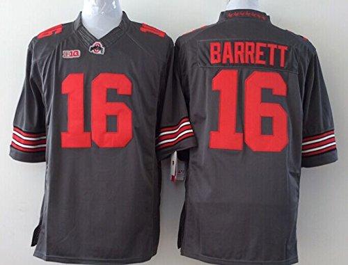 Men's NCAA Football Shirt Ohio State Buckeyes NO.16 Barrett NCAA Grey Men's Ohio State Buckeyes Football Jersey