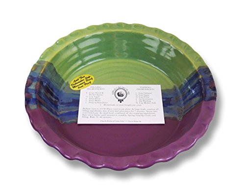 Clay In Motion Handmade Ceramic Deep Dish Pie Plate - Mossy Creek