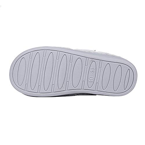 Clog Comfy Foam Beslip Cozy Skid Slippers Memory Slippers Grey Winter Anti Women's House Warm Indoor Slippers qqR7S