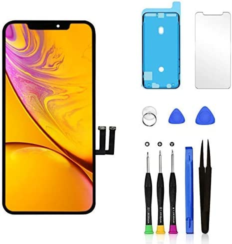 Pavlysh for iPhone 11 Screen Replacement LCD Display Touch Screen digitizer Assembly with Waterproof Frame Adhesive Sticker Screen Protector and Repair Tools for iPhone 11 6.1 inch/…