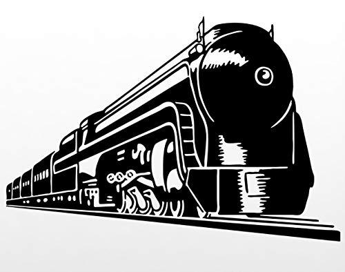 Wagon Train Transport Railroad Locomotive Rails. Transfer tattoos tattooing temporary tattoos Cute Face - Small Locomotive