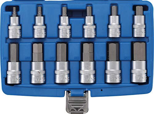 BGS Bit Set Hex Socket 12.5 mm (1/2), 12 Pieces, 1 Piece, 5052