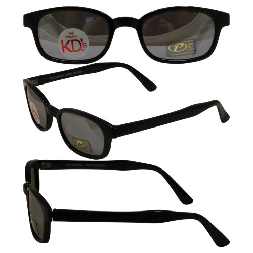 Original KD's Biker Sunglasses with Silver Mirror - Sunglasses S Kd