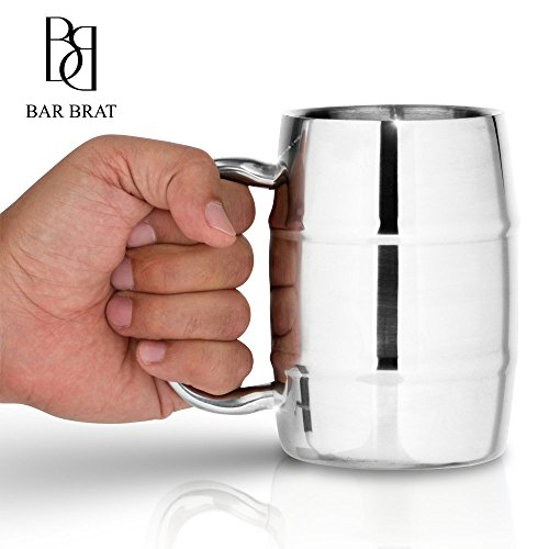 Insulated Coffee Mug & Beer Mug by Bar Brat ™ / 16.9 Oz.