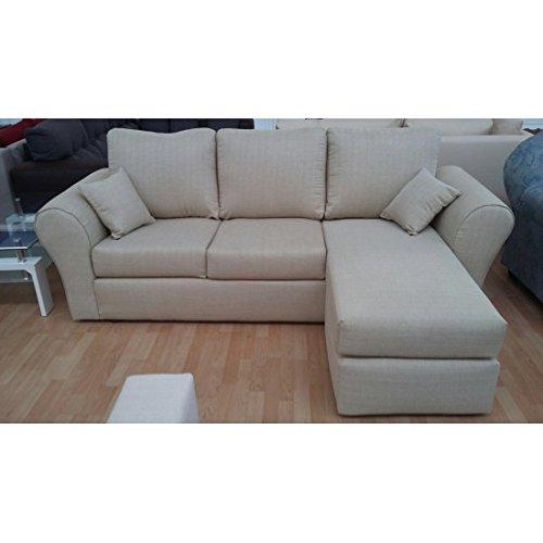 Estea Muebles – Sofá de 4 plazas con chaise longue: Amazon ...