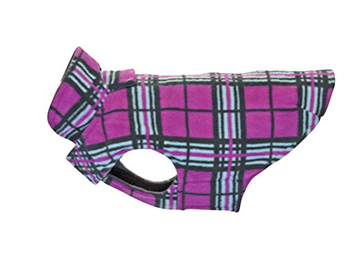 RC Pet Products Whistler Winter Wear V.2 Fleece Dog Coat, Size 18, Raspberry Tartan by RC Pet Products
