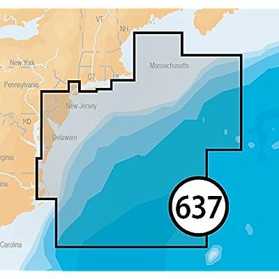 Image of Navionics Platinum Plus 637P+ New Jersey to Delaware Marine Charts on SD/MSD