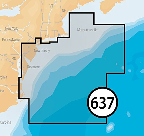 Navionics Platinum Plus 637P+ New Jersey to Delaware Marine Charts on SD/MSD by Navionics